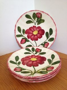 Blue Ridge Pottery Red Barn Set/4 Luncheon Plates | Pottery - McCoy and others | Pinterest | Red barns Pottery and Barn & Blue Ridge Pottery Red Barn Set/4 Luncheon Plates | Pottery - McCoy ...