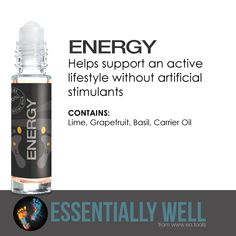 Energy - Helps support an active lifestyle without artificial stimulants #essentiallywell #diykit #makeandtakekit #essentialoils #reflexology