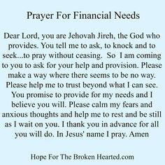 prayer for finances Prayer Times, Prayer Scriptures, Bible Prayers, Faith Prayer, God Prayer, Prayer Quotes, Bible Verses Quotes, Spiritual Quotes, Bible Psalms