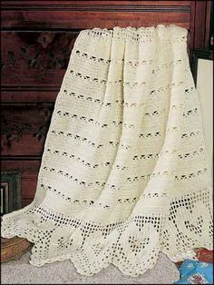Victorian Hearts Baby Coverlet (Crochet)  Download Pattern $3.69