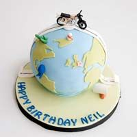 Bike In Earth Fondant cake