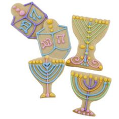 Jewish Menorah cookies