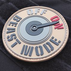 Patchlex New BEAST MODE ON Tactical PVC Morale Patch