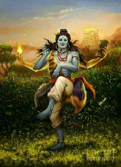 Shiva dances.
