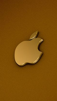 Champagne Gold Apple Logo #iphonewallpaper. Click to get the right resolution