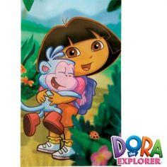 Deze kleurrijke traktatie zakjes van Dora zijn perfect om te vullen met snoep, cake, koekjes of andere traktaties.