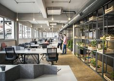 Open plan office space at Habita Coworking Offices – Istanbul