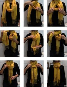 Pashmina knot for men and women - Pashmina Cachemire - - Noeud de pashmina pour homme et femme How to make an original pashmina scarf knot around the neck, an original scarf knot for man and woman, technique to tie his pashmina. Perfect for Sinchi® A chi Ways To Tie Scarves, Ways To Wear A Scarf, How To Wear Scarves, Scarf Knots, Neue Outfits, Mode Style, Scarf Styles, Diy Clothes, Fashion Outfits