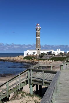Faro or Lighthouse near Punta del Este, Jose Ignacio, Uruguay.