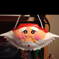 Santa crab shell ornament Beach Christmas Ornaments, Nautical Christmas, Christmas Goodies, All Things Christmas, Christmas Wreaths, Christmas Crafts, Christmas Ideas, Xmas, Crab Shells
