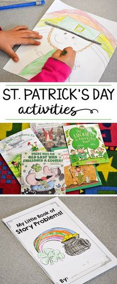 Some fun reading, writing, math and art activities for St. Patrick's Day in a kindergarten or first grade classroom!