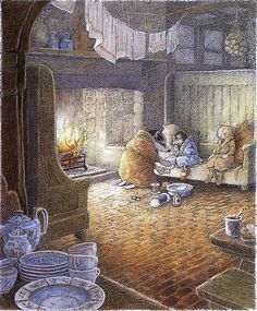 Inga Moore illustrations from the book Wind in the Willows