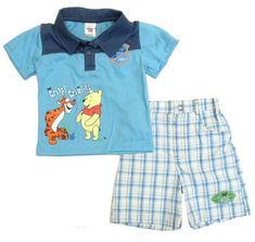 Disney Toddler Boys Polo Shorts Children Set outfit Winnie The Pooh 2t 3t 4t nwt #Disney #BirthdayCasualParty