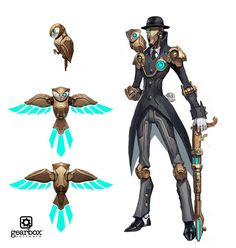 Illustration for article titled The Weird Units Of Battleborn Game Character Design, Fantasy Character Design, Character Creation, Character Design References, Character Design Inspiration, Character Concept, Character Art, Steampunk Characters, Sci Fi Characters