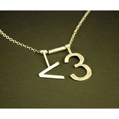 <3 Necklace