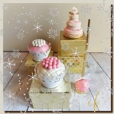 Cupcakes, Cake pops and cookie wedding cakes for a winter wedding dessert table. Wedding Desserts, Wedding Cakes, Cookie Jars, Dessert Table, Cake Pops, Cupcakes, Sweets, Photo And Video, Winter