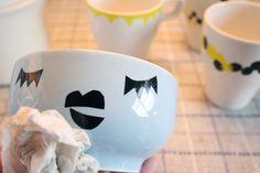 DIY porcelain decorations