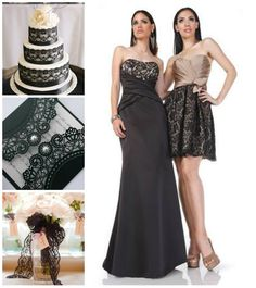Black lace bridesmaids dresses from Impression's Fall 2013 collection