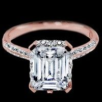rose gold solitaire engagement ring /