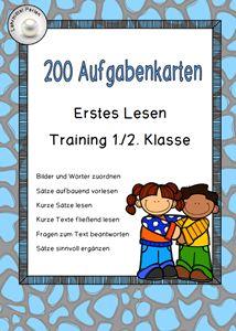 200 Aufgabenkarten zum Lernziel: Erstes Lesen