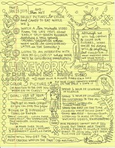 "*neuro science + art* From the January 26 issue of the website ""Open Culture"" comes this report about cartoonist Lynda Barry and her new course on doodling and neuroscience Smash Book, Map Mind, Lynda Barry, Swatch, Visual Note Taking, University Courses, Language Lessons, Scrapbook, Science Art"