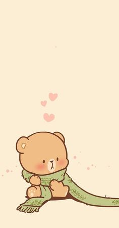 Cute Pastel Wallpaper, Bear Wallpaper, Kawaii Wallpaper, Cute Wallpaper Backgrounds, Wallpaper Iphone Cute, Clipart Baby, Polar Bear Drawing, Best Friend Wallpaper, Cute Bear Drawings