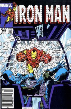 Iron Man #199, October 1985, cover by Bob Layton.