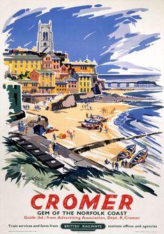 Cromer, Gem of the Norfolk Coast. Vintage BR (ER) Travel Poster by Kenneth Steel