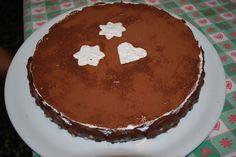 Torta Panna, Nutella e Pan di Stelle. Molto calorica!!