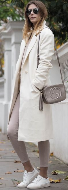 E J Style Cold Days Neutrals Fall Street Style women fashion outfit clothing stylish apparel @roressclothes closet ideas