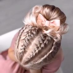 Easy Braid Video Tutorials for Kids If you wanna see more fab hair style for your baby girl just visit our cutie-pie web site! Childrens Hairstyles, Cute Hairstyles For Kids, Little Girl Hairstyles, Cool Hairstyles, Kids Hairstyle, Braids For Kids, Girls Braids, Braids For Long Hair, Braided Hairstyles For Wedding