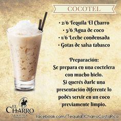 Cocotel, con Tequila El Charro! #Tequila #TequilaElCharro #Coctel #Cocktail #Cocotel
