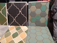 Love the hexagon and Arabesque shapes by ARTO! #Coverings2014