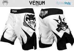 Venum Shogun Fight Shorts – Ice & Black http://www.fighterstyle.com/shogun-fight-shorts/