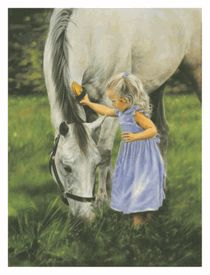 Lesley Harrison - Grace and the Grey - Horse Print