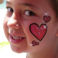 face paint heart - Bing Images
