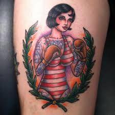 Risultati immagini per tatuaggio old school boxe
