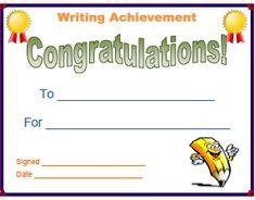 Writing achievement certificate template choice image writing achievement certificate template image collections writing achievement certificate template yadclub choice image yadclub Gallery