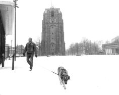 Oldehove in snow.