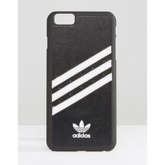 adidas Originals 3 Stripe iPhone 6 Case In Black And White (49 AUD) ❤ liked on Polyvore featuring accessories, tech accessories, multi and adidas
