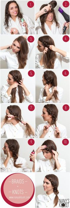 Learn how to make this super cute braided knot hair style.