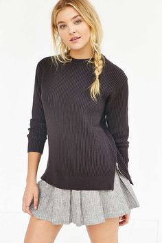 Silence + Noise Zip Slit Sweater - Urban Outfitters