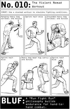 100 Deadly Skills: Violent Nomad Workout. | Posted by SurvivalofthePrepped.com
