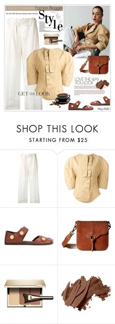 """Get The Look: Fashion Blogger Style"" by mcheffer ❤ liked on Polyvore featuring STELLA McCARTNEY, Sakroots, Clarins, Bobbi Brown Cosmetics and highwaisted"