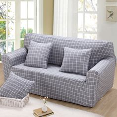 Aliexpress Double Three Four Single Universal Sofa Cover Elastic Sectional Slipcover Plaid Corner Make Up Wrap All Inclusive From