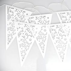 White Lace Paper Bunting - decoration