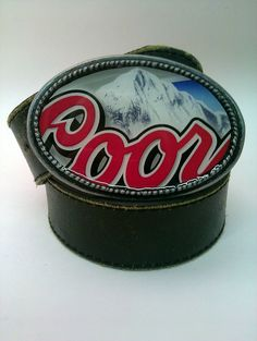 Coors Light beer  Labeled Belt Buckle by whattawaist on Etsy, $27.00 Studio 11 Emporia, Kansas