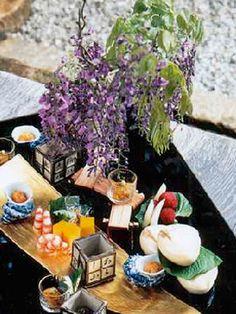 Traditional Japanese Cuisine, Kiccho Kyoto 藤の花をあしらった八寸
