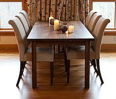 dining room - The Chester dining table and New Haven dining chairs.  All in solid walnut.