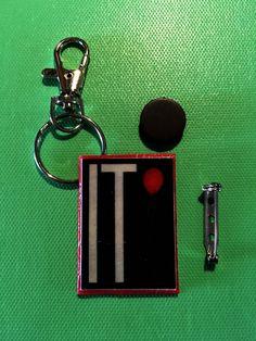 Mini Movie Scripts-Keychain Pin & Magnet: It by GidgetsTreasures #it #timcurry #creepyclown #stephenking #minimoviescript #keychain #magnet #pin #stockingstuffer